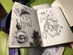 Tonight, it's all about Space Doodles! 🚀 #draw #doodle #art -#brianlapsley (Brian Lapsley) Tags: draw doodle art brianlapsley