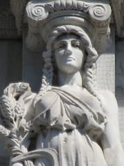 Mysterious Woman Dame Autumn Caryatid NYC 5416 (Brechtbug) Tags: mysterious woman dame autumn caryatid stone ladies courthouse roof statues across from madison square park new york city atlantid 2018 nyc 07152018 art architecture gargoyle gargoyles statue sculpture sculptures facade figures column columns court house law government building lady women figure form far east buildings season seasons fall