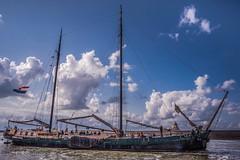 Tall Ship Harlingen, the Netherlands. (jacquelineermens) Tags: nikon harlingen thenetherlands boat clouds