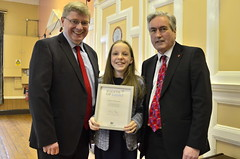 Presenting Points of Light award to Grace Warnock with Martin Whitfield MP