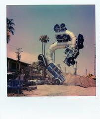 Las Vegas Arts District. (Kyle R. McCluer) Tags: las vegas lasvegas lasvegasartsdistrict streetart polaroid polaroidonestep2 film sculpture