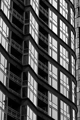 Downtown Seattle early morning with abstract close-up of buildin (Jim Corwin's PhotoStream) Tags: nw pacificnorthwest seattle abstract abstractpatterns apartments architecture attractions cityscape design destinations downtown exterior exteriors facade garden glass glasswindows local localattractions officebuildings outdoors pattern patterns photography reflection reflections sightseeing urbanscene urbansetting vertical windows