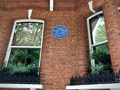 Mark Twain lived here (for a year, or less) (sixthland) Tags: marktwain blipfoto blueplaque cameraphone chelsea iphonex