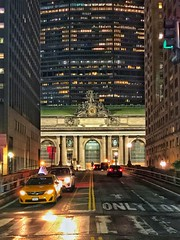 Midnight Train to ... (JamesAnok || ThetaState) Tags: parkavenue street architecture night urban 2018 july grandcentralstation newyork