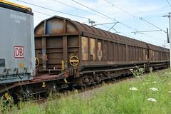 83 80 4741 147-8 Kingsthorpe 100618 (Dan86401) Tags: wilsonscrossing kingsthorpe northampton wcml 6m13 838047411478 8047411478 4741147 804741 4741 80riv riv uic d ctregistered iwa bogie ferryvan sfins touax wagon freight dtouax