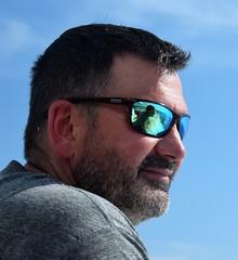 Fishing off of Virginia Beach (Tobyotter) Tags: fishing cheesecake virginiabeach aaron male sunglasses