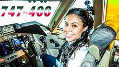 Khadiya Pilots BOEING 747 out of Casablanca (JustPlanes) Tags: female crew pilot women woman pilots pilotseye pilotsviews maroc morocco royal air boeing 747 747400 casablanca montreal flying aviation plane cockpit flightdeck jumbo