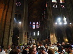 P5270784 (photos-by-sherm) Tags: notre dame cathedral paris france summer interior organ music chapels statues artwork carvings windows people