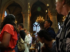 P5270775 (photos-by-sherm) Tags: notre dame cathedral paris france summer interior organ music chapels statues artwork carvings windows people