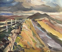 Peak District view (Captain Wakefield) Tags: hills sky mountain rural abstract storm oil burton samuel britain uk hill expressionist landscape acrylic art peakdistrict painting