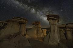 DSC0339_edit (davidmcqueenphoto) Tags: badlands bistibadlands newmexico milkyway astrophotography landscapeastrophotography nightscape hoodoo pinkston waynepinkston starrynight waynepinkstoncom