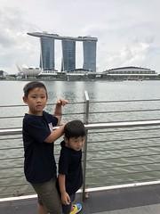 2018.6.13 One Fullerton 魚尾獅公園 (amydon531) Tags: fullerton merlion park 魚尾獅公園 魚尾獅 family trip travel singapore 新加坡 baby boys kids brothers justin jarvis cute 一號浮爾頓 one