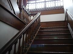 Classic stairs (しまむー) Tags: panasonic lumix gx1 g 20mm f17 asph natural train tsugaru free pass 津軽フリーパス 斜陽館