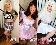 Which do you prefer? (claudiatmuk) Tags: photoshoot makeover crossdress