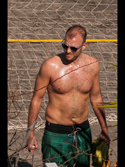 After the beach volleyball (Stuart-Lee) Tags: espana spain tenerife costaadeje holiday man shirtless canary islands