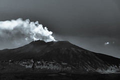 Mount Etna, view from Taormina - Sicily.. (ckollias) Tags: activevolcano beautyinnature cloudsky environment geology idyllic land landscape mountain mountainpeak mountainrange nature nopeople nonurbanscene outdoors pollution powerinnature scenicsnature sky smokephysicalstructure snowcappedmountain tranquilscene tranquility volcaniccrater volcano