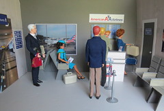 14. Early morning travelers (Foxy Belle) Tags: doll katherine johnson dollhouse ken allan miniature diorama airport work barbie uniform vintage gray american airlines business madmen roger sterling silkstone made move rebodied redressed science nasa celebrity playscale ooak 16 scale 1960s