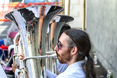 Musical reflections (Frank Fullard) Tags: frankfullard fullard music instrument musical reflection hair colour image mirror beard glasses sun galway brass band brassband recital artist musician mayo castlebar irish ireland summer walks castlebarwalks bridgebar bar