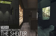 [VALE KOER] THE SHELTER (VALE KOER) Tags: vk vale koer valekoer second life secondlife sl bunker skybox house tmd mens department furniture mesh