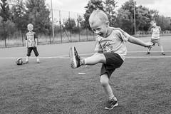 sunday game (dziurek) Tags: d750 nikon dziurek dziurman pdziurman fx kid boy child children childhood fun play soccer football smile monochrome