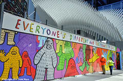 Everyone's Different And Everyone's The Same (Trish Mayo) Tags: mural frankape colorful positivemessage art streetart worldtradecenter oculus