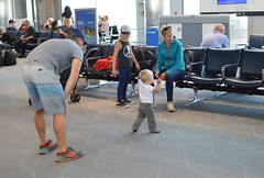 Toddling to the chairs (radargeek) Tags: den denver airport travel colorado travelers traveler baby kid kids children toddler family mom dad converse
