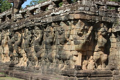 Angkor Thom, Terrace of the Elephants (Buster&Bubby) Tags: khmerempire ancientcivilizations civilizations ancientruins ruins angkorarchaeologicalpark bayontemple khmer unesco unescoworldheritagesite angkor siemreap angkorthom cambodia terrace elephants elephant banyontemple world heritage site