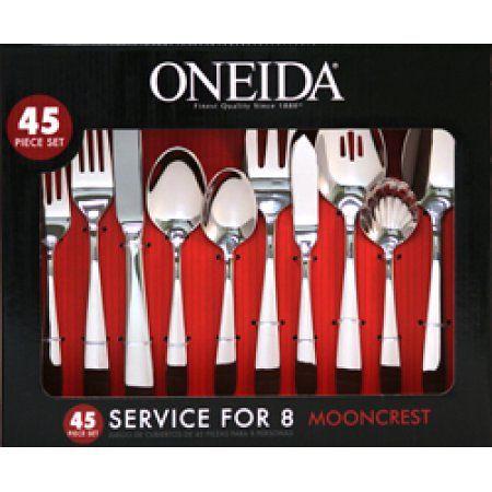 Oneida Mooncrest 45-Piece Flatware Set – Walmart.com