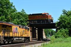 BNSF #6555 (Jim Strain) Tags: jmstrain train railroad railway bnsf unionpacific galesburg illinois diesel