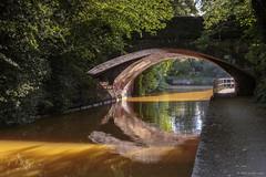 The orange canal II (andyrousephotography) Tags: worsley bridgewatercanal canal worsleybridge waterways orange ironore mining mines sunlight shine colours colourful
