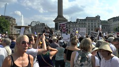 Trafalgar Square Protests HD (ChiralJon) Tags: trafalgarsquare protestors demonstrators public video hd media journalism news london crowd headlines londres londen londyn