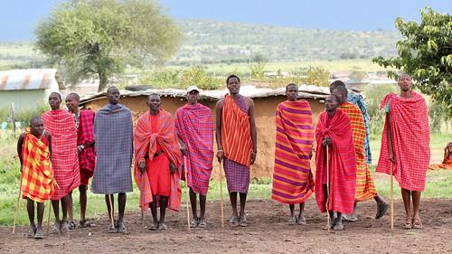 The Maasai line up