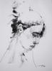 P1018273 (Gasheh) Tags: art painting drawing sketch portrait girl line pen charcoal gasheh 2018