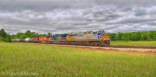 CSX Q616-19 at Meadowbrook RD with CREX/CSX/BNSF Power