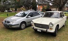 Citroen C5 & Peugeot 404 Queanbeyan 17-6-2018 (http://roverownersclub.com.au/) Tags: citroen c5 peugeot 404