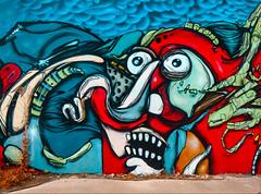 A Cloudy Day (Steve Taylor (Photography)) Tags: graffiti digitalart mural streetart colourful vivid newzealand nz southisland canterbury christchurch cbd city cloud clouds jacob alien monster nose ryan teeth