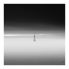 XXXX (picturedevon.co.uk) Tags: paignton torbay englishriviera devon uk beach sea seascape bw fineart mono blackandwhite minimal sky clouds water grey coast square light dark nisi 6stop ndfilter canon wwwpicturedevoncouk