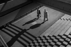 II (Derek Robison) Tags: london uk blackandwhite bw people lines shadow pattern repetition street