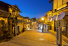 Streets of Kyoto : Gion (1/10) [JP] (ta92310) Tags: kyoto travel asia spring 2018 honshu kansai japon japan sun soleil canon architecture blue bluehour longexposure street rue quiet calme light night nuit old ancien