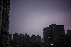 skyes (veronikagusieva) Tags: thunder lightning sky houses council estates skies clouds storm thunderstorm rain lights