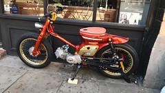 C90 (Sam Tait) Tags: motorbike motorcycle retro classic engine race cwr cvr 125cc 90cc stepthrough scooter moped flattracker bobber custom modified economy c90 honda super