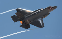 F-35A Weather: Partly Cloudy (Fly to Water) Tags: f35 f35a pushing vapor fighter jet aircraft airplane joint strike airforce flight sky blue pilot cockpit engine pulling gs combat military usa united states professional photography aviation nikon 600mm fl f4 hl 5172 155172 af147