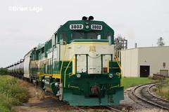 IARR 3802 (eslade4) Tags: iarr iowariverrailroad ple pinelakeethanol exiac exmstl excnw iarr3802 gp38 iarr3004 gp30 exarzc coveredhopper tankcars