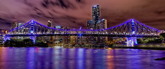 Storey Bridge, Brisbane (cantdoworse) Tags: brisbane bridge storey river night lights landscape reflection canon 6d