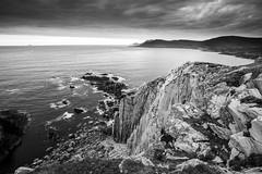 Achill Island cliffs (Rod Burgess) Tags: achillisland ireland mayo countymayo ie wildatlanticway sunset cliff longexposure
