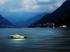 tranquillity.... (Eggii) Tags: como lake italy mountains boat town lombardy