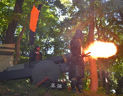 Samurai Cannon Explodes (Ronin Dave) Tags: japan cannon samurai festival history fireworks matsuri fire takinocastle tokyo tokorozawa hojo gohojo saitama japanesefestival cosplay sengoku