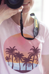 (Girl With Butterfly Wings) Tags: me self selfportrait tshirt tee summer summery palmtrees sunset pink heatwave clothes clothing style