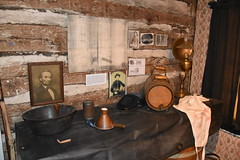 2018 Old Stagecoach Stop (Adventurer Dustin Holmes) Tags: 2018 waynesvillemo museum blackhotel pulaskihouse waynesvillesquare route66 us66 oldroute66 pulaskicounty waynesville missouri ozarks places place indoor exhibit display tour interior inside touristinn civilwarhospital stagecoachstop johnsonhouse lamp lantern kerosenelantern keg barrel hat abrahamlincoln registerofthesickandwounded photos pictures photographs soldier soldiers military hospital uscivilwar civilwar americancivilwar