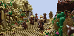 The Mini Magnificent Seven (MinifigNick) Tags: afol minifignick oldwildwest western cowboy cowgirl magnificentseven minifig minifigure